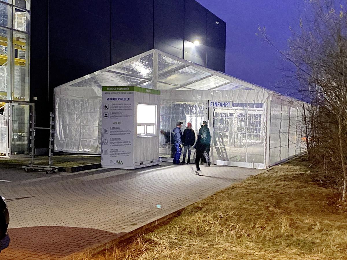 mobiles Testzentrum